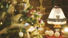 Luces del árbol de navidad almacen de metraje de vídeo