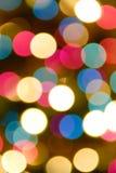 Luces del árbol de navidad, mosaico defocused foto de archivo