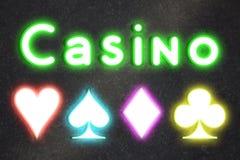 Luces del casino Foto de archivo libre de regalías