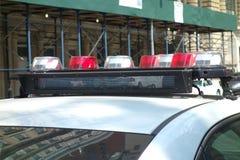 Luces del coche policía Fotografía de archivo