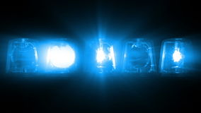Luces del coche policía que destellan - colocando almacen de video
