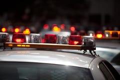 Luces del coche policía Imágenes de archivo libres de regalías