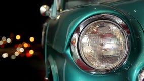 Luces del coche y de la ciudad del vintage Imágenes de archivo libres de regalías