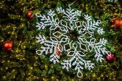 Luces del copo de nieve Fotografía de archivo libre de regalías