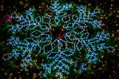 Luces del copo de nieve Fotografía de archivo