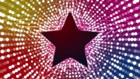 Luces del disco con las estrellas stock de ilustración