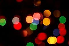 Luces del disco del arco iris Imagen de archivo libre de regalías