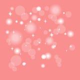 Luces del efecto de Bokeh en fondo rosado Imagen de archivo