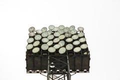 Luces del estadio aisladas en el fondo blanco Imagen de archivo
