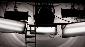 Luces del estudio Fotos de archivo