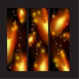 Luces del fuego en negro Fotos de archivo