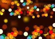 Luces del fulgor Imagen de archivo libre de regalías