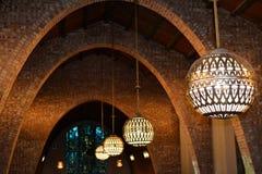 Luces del globo en capilla Imagenes de archivo