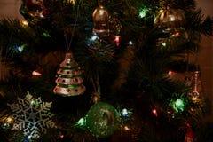 Luces del juguete del árbol de navidad Imagen de archivo libre de regalías