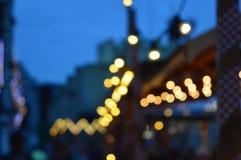Luces del mercado Foto de archivo libre de regalías