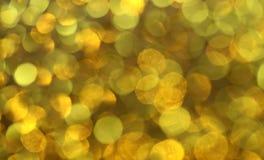 Luces del oro Imágenes de archivo libres de regalías