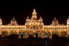 Luces del palacio de Mysore Foto de archivo
