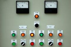 Luces del panel de control. Foto de archivo libre de regalías