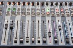Luces del panel de control  Foto de archivo