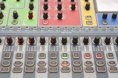 Luces del panel de control  Imagen de archivo