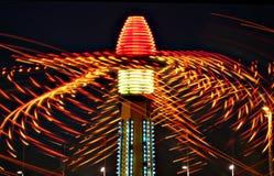 Luces del paseo del carnaval Fotografía de archivo