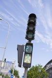 Luces del paso de peatones Fotos de archivo