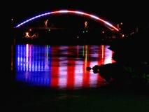 Luces del puente de Amelia Earhart foto de archivo