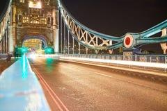 Luces del puente de Londres Foto de archivo libre de regalías
