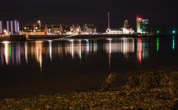Luces del puerto Fotografía de archivo libre de regalías