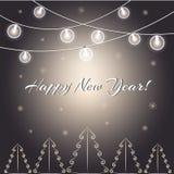 Luces del ` s del Año Nuevo ilustración del vector
