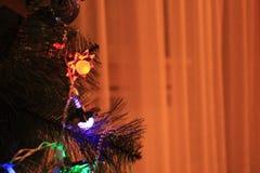 Luces del ` s del Año Nuevo Imagen de archivo libre de regalías