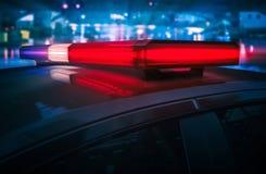 Luces del tejado de la policía que destellan Fotografía de archivo