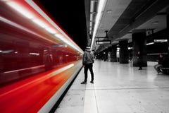 Luces del tren Imagen de archivo libre de regalías