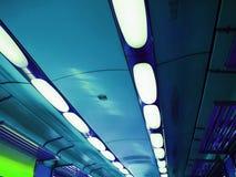 Luces del tren Foto de archivo libre de regalías