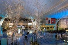 Luces e iluminaciones en el aeropuerto de Haneda Fotos de archivo libres de regalías