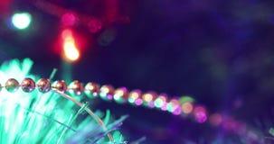 Luces en el árbol de navidad metrajes