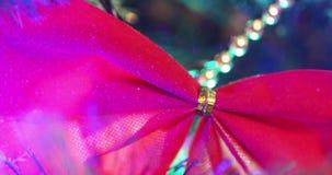 Luces en el árbol de navidad almacen de video