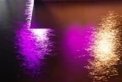 Luces en el agua Fotografía de archivo