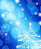 Luces en el fondo blanco y azul Imágenes de archivo libres de regalías