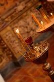 Luces en iglesia Fotos de archivo