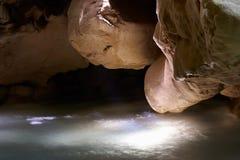 Luces en la cueva Fotografía de archivo libre de regalías