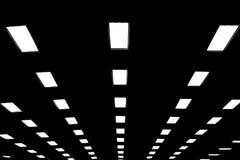 Luces en larga cola en techo Imagen de archivo libre de regalías