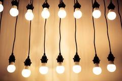 Luces en los alambres Fotografía de archivo libre de regalías