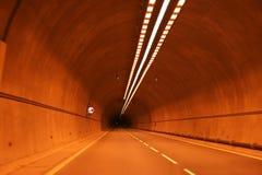 Luces en túnel foto de archivo libre de regalías