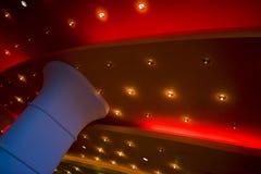 Luces en un techo del teatro Fotografía de archivo libre de regalías
