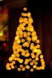 Luces enmascaradas del árbol de navidad Foto de archivo libre de regalías