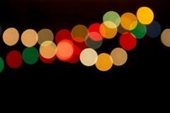 Luces enmascaradas del efecto del árbol de navidad y de Boken Fotografía de archivo libre de regalías