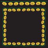 Luces felices de la calabaza Imagen de archivo libre de regalías