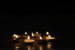 Luces festivas de la vela Imagen de archivo libre de regalías