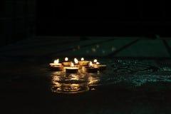 Luces festivas de la vela Foto de archivo libre de regalías